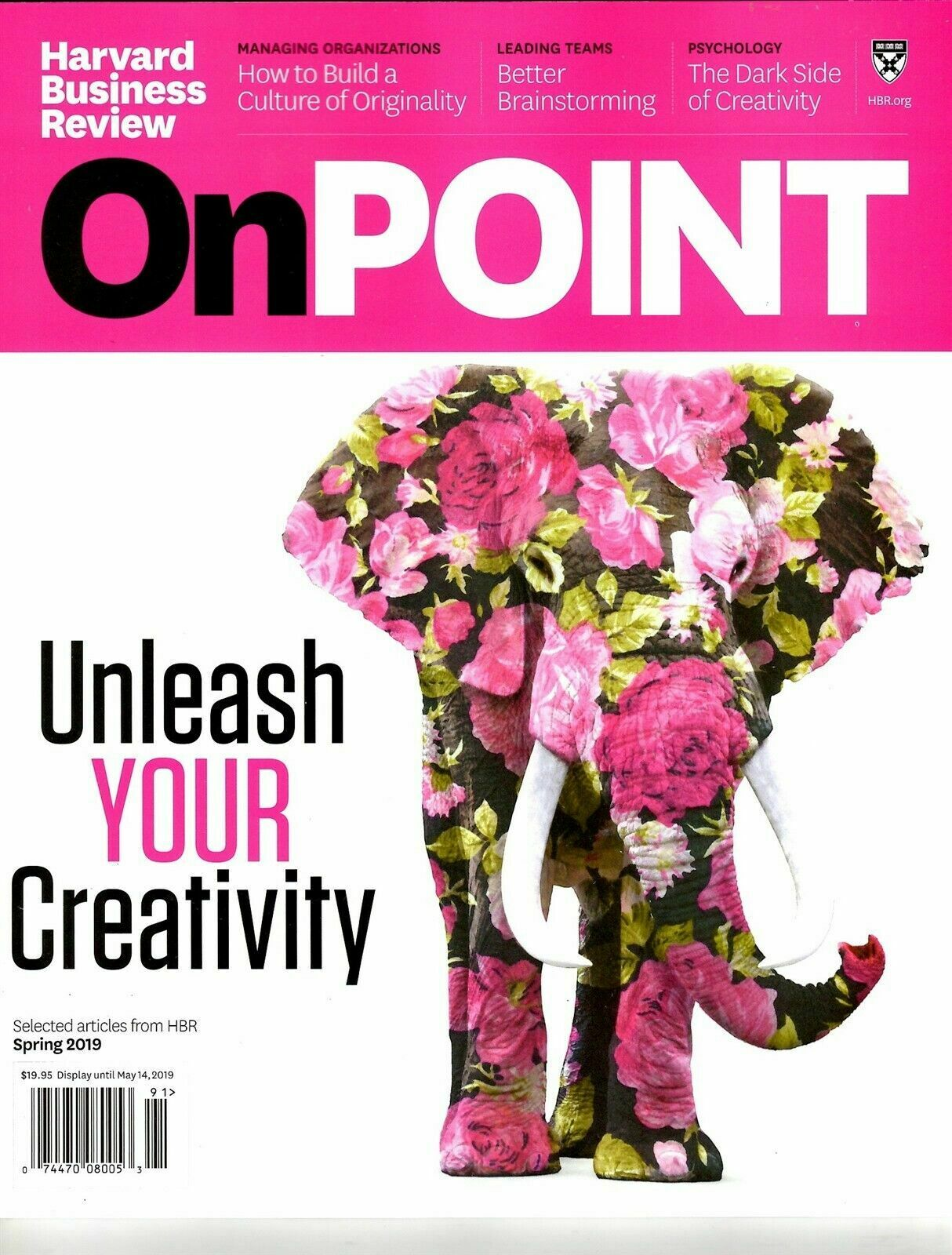 Harvard Business Review Magazine OnPoint Spring 2019 UNLEASH YOUR CREATIVITY 1