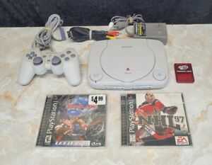 Sony PlayStation 1 PS1 PSOne Console SCPH-101 Bundle with 2 Games + 1 Controller