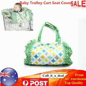 Folding-Baby-Shopping-Trolley-Cart-Seat-Cover-Baby-High-Chair-Protector-Tote-AU