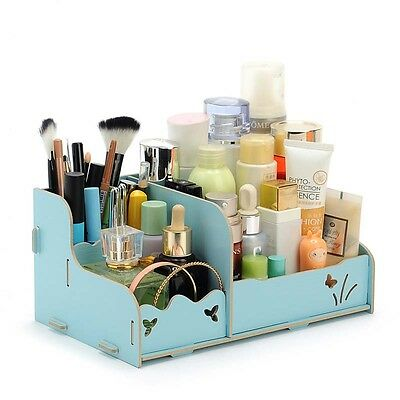 Hot DIY Wood Dresser Organizer Drawer Cosmetic Jewellery Storage Box Decor Gift