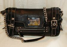 Dolce Gabbana Miss Easy Way Black Pebble Leather Shoulder Hand Bag Satchel  Purse 3f8b6cb826
