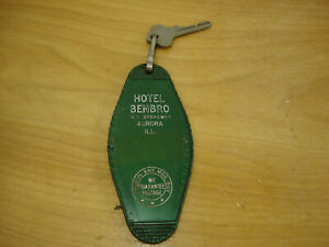 Vintage-Hotel-BenBro-Motel-Key-Fob-Aurora-Illinois-74-S-Broadway-4-3-4-inch