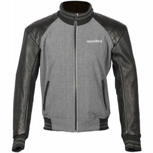 Spada-Campus-Yale-Motorcycle-Jacket-Black-Grey-Large