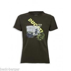 Franc Ducati Style Zone Long Journey Multistrada T-shirt Vert Nouveau!!!-afficher Le Titre D'origine Volume Large