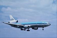 576037 KLM Viasa DC10 30 Londra Heathrow UK A4 FOTO STAMPA