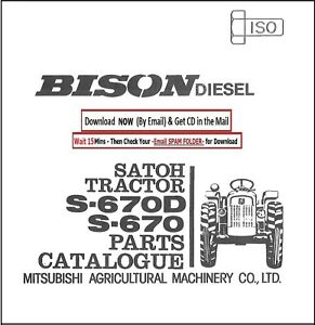 satoh diesel tractor s-670d s-670 service parts manual cd - 187 pages | ebay  ebay