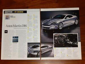 ASTON MARTIN DBS MAGAZINE ARTICLE BY DESIGN DIFFERENT SURFACE ANATOMY BRITISH