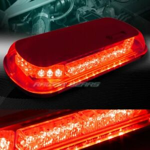 34 LED RED TRUCK EMERGENCY ROOF TOP HAZARD WARNING FLASH ...