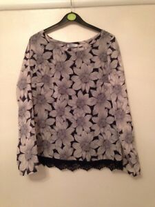 Classic And Blue amp; Flower 10 Bnwt Spencer Collection Size Marks White Top 8EnwHHR