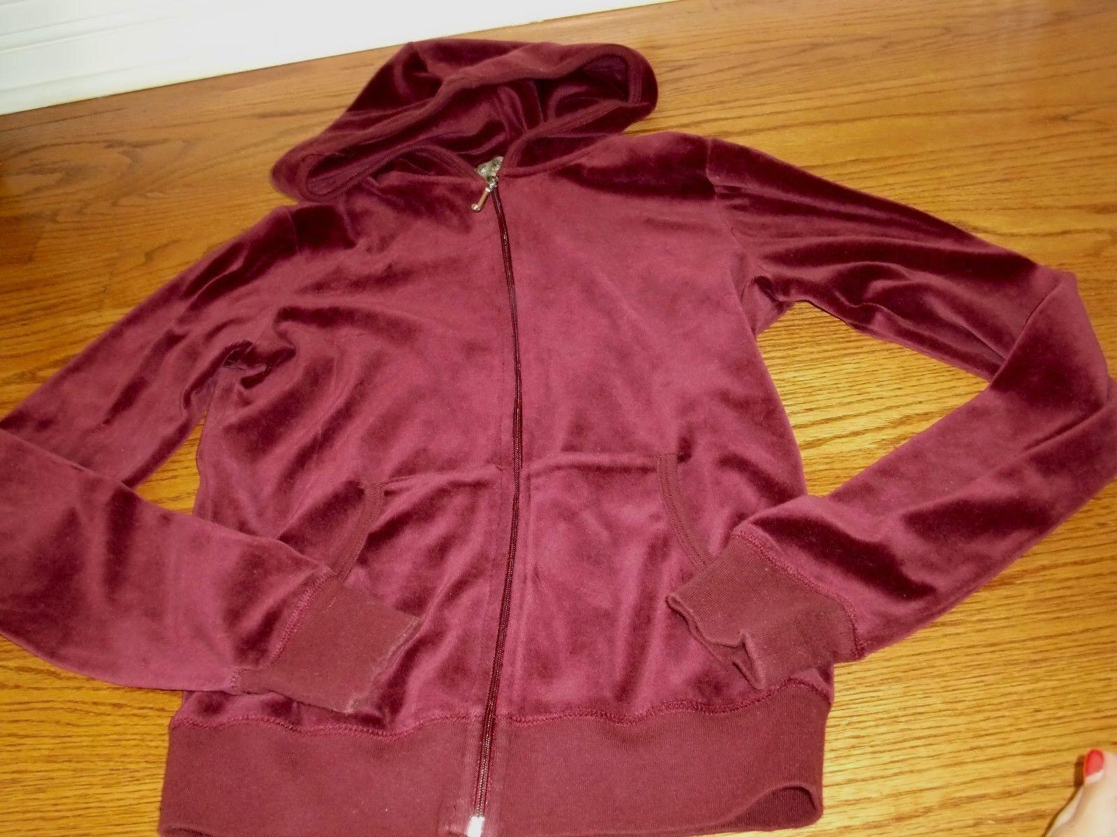 Mädchen ~ JUICY COUTURE ~ Samt-Kapuzenpullover mit durchgehendem Reißverschluss Pullover / Jacke Größe M (12-14)