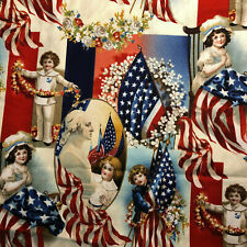 FAT QUARTER  AMERICAN PRIDE  LIBERTY US FLAG  EAGLE  USA  AMERICA  COTTON FABRIC