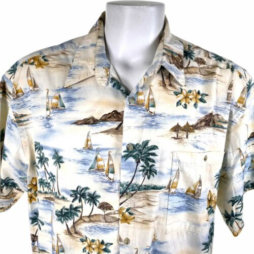 Campia Sailboats Palm Trees Islands 2XL Hawaiian S