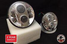 Land Rover Defender 90 110 Pair CHROME Lynx LED DRL Headlights DOT E9 MARKED