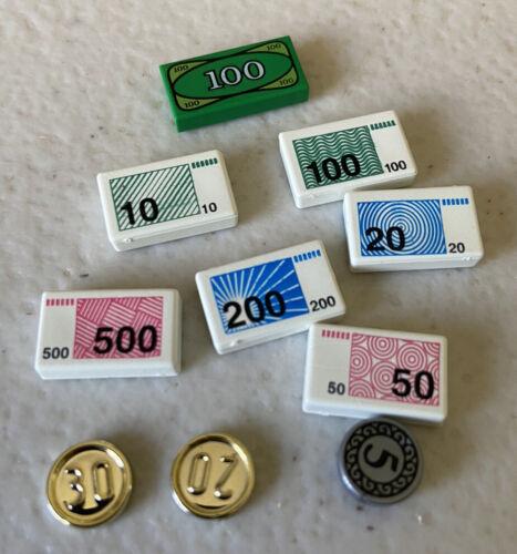 5,30,20 Pièce ville figurine voleur dollar un LEGO argent tuile de 200,500,50,10,20