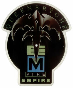 QUEENSRYCHE-EMPIRE-Limited-Edition-Shaped-VINYL-Picture-Pic-Disc-Backing-Card