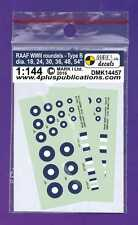 Mark I Decals 1/144 RAAF WWII Roundels Type B (Thick Ring) # 14457