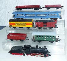 8 tlg. Fleischmann Konvolut: Dampflok BR 53 320, Güterwagen, Personenwagen H0