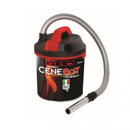 Aspiracenere a batteria Ribimex Cenebat 18V 4,0 Ah funzione soffiante 18lt
