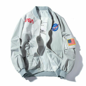 Aape-Zip-Jacket-Men-Flight-Heron-Preston-Head-MA1-NASA-Bomber-Coat-Pilot-Jacket