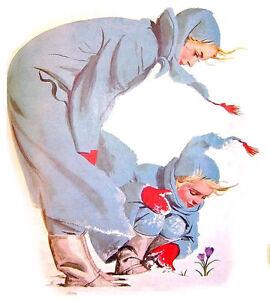 "FLONZ 412-0271 Mother w Baby Vintage 4pcs 2.5/""x3.5/"" Waterslide Decals"