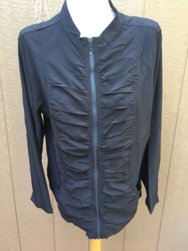 Black Ruched Zip 109 14 12 Soldout 2 Novità Nwt 451008827241 Sz Large Zenergy Chico's Up Jacket SqxIwqTBX