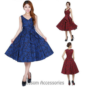 Image Is Loading Rk107 Rockabilly Evening Retro Bridesmaid Dress Pin Up