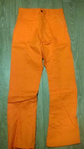 "Mens orange work trousers Long leg smart sewn in front crease NEW Waist 52/"""