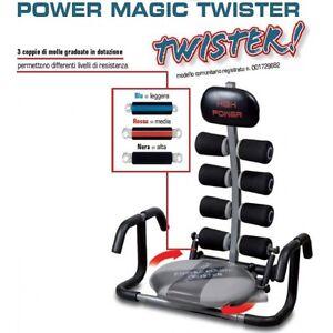 POWER-MAGIC-TWISTER-HIGH-POWER-ALLENAMENTO-sviluppare-ADDOMINALI-Addome-Training