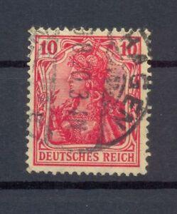 DR-86-II-f-Germania-10-Pfg-dunkelrosarot-gestempelt-geprueft-Dr-Oechsner-or22