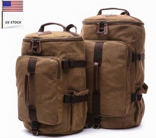 2pcs Canvas Backpack Mens Travel Bag Couple Hiking Couple Rucksack school bags