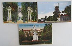 3-Postkarten-POTSDAM-Brandenburg-Schloss-Castle-Sanssouci-1910-20-ungelaufen