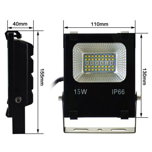 Faro led 15W staffa proiettore luce RGB CCT multi colore RGBW esterni IP66 230V