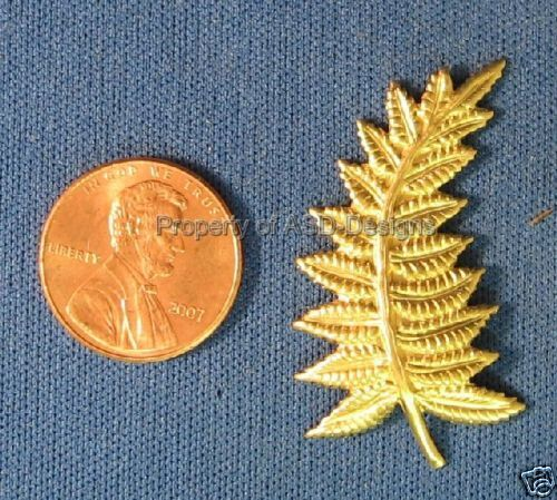 6pc Raw Brass Natures Fern Leaf Leave Finding 5375