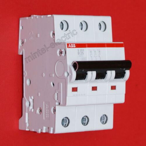 ABB S203-B25 / 3-polig / 25A Sicherungsautomat Leitungsschutzschalter
