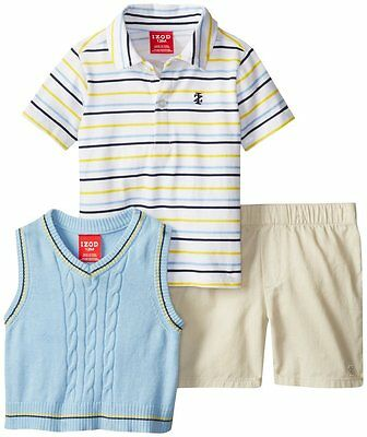 IZOD Baby Toddler Boy Polo Coverall Red 3-12 MO NEW