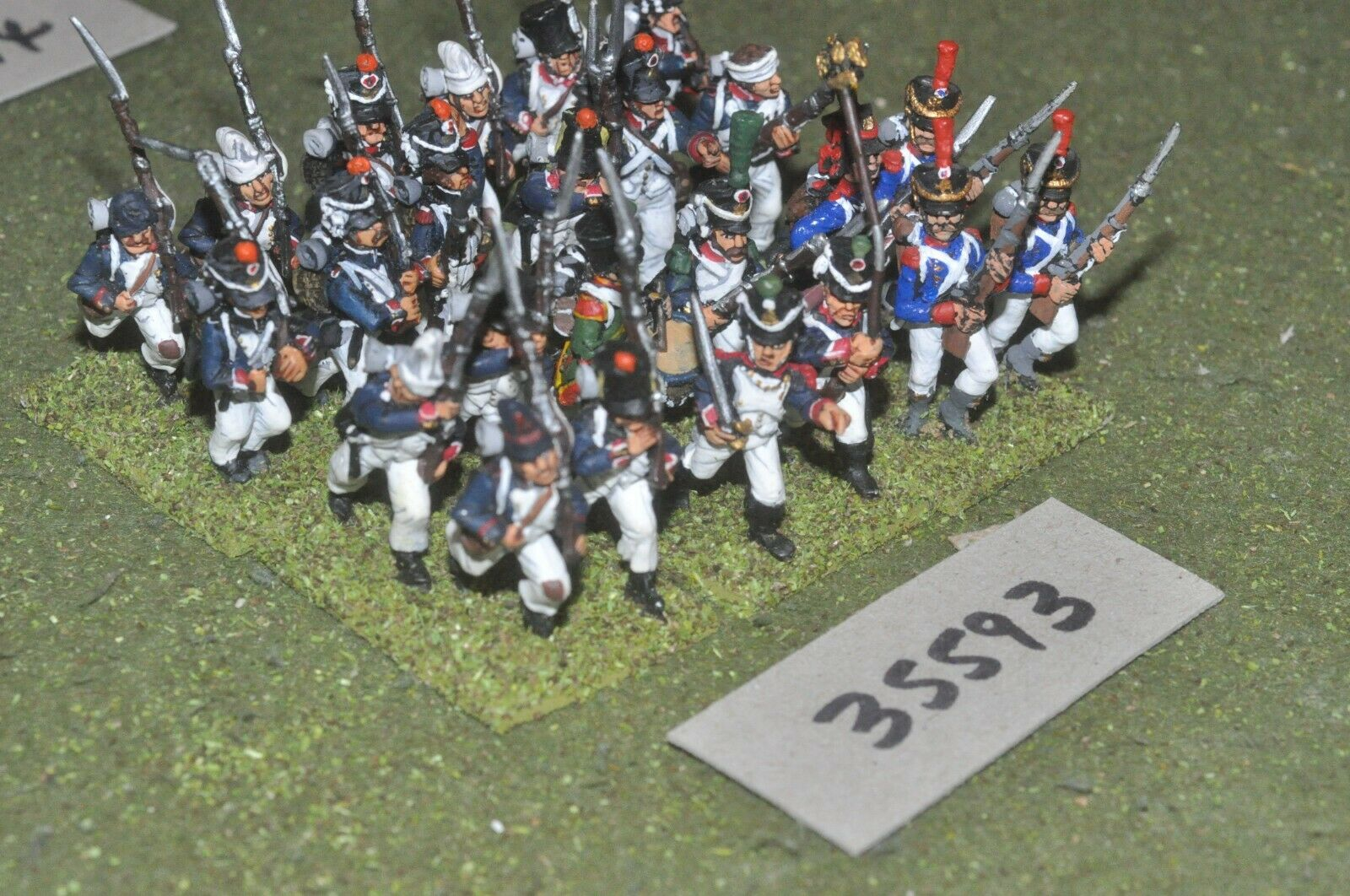 25mm napoleonic   french - regiment 24 figures - inf (35593)