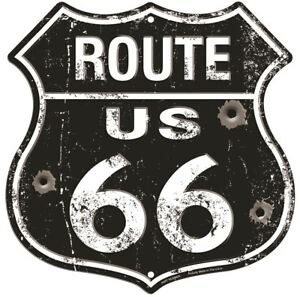 """Route 66 Illinois IL 11/"""" Highway Shield Metal Sign Embossed Retro Home Decor"""