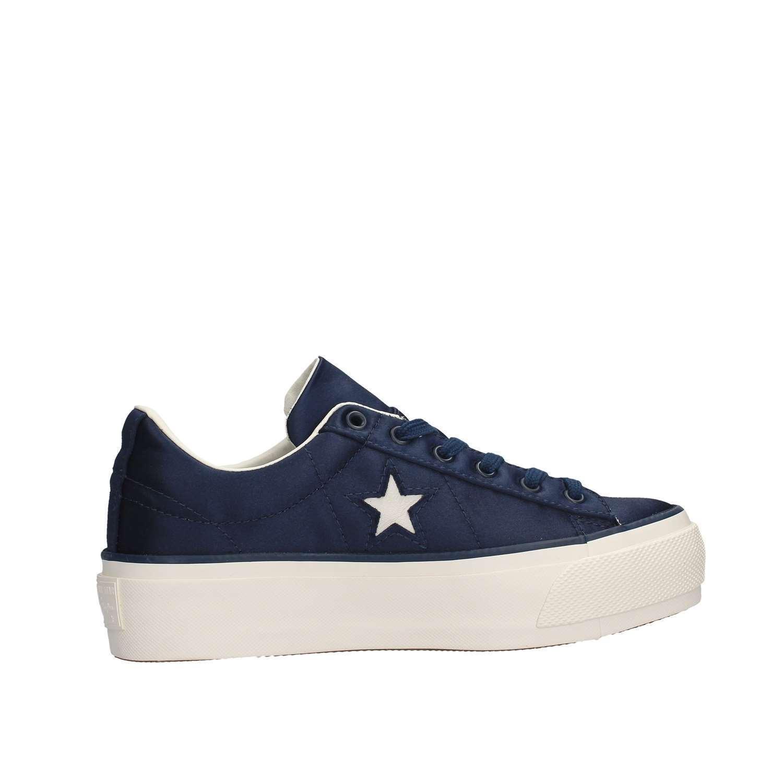 CONVERSE Sneaker blu One Star raso Platform Ox 560988C  raso Star blu dress bianco d8e2c9