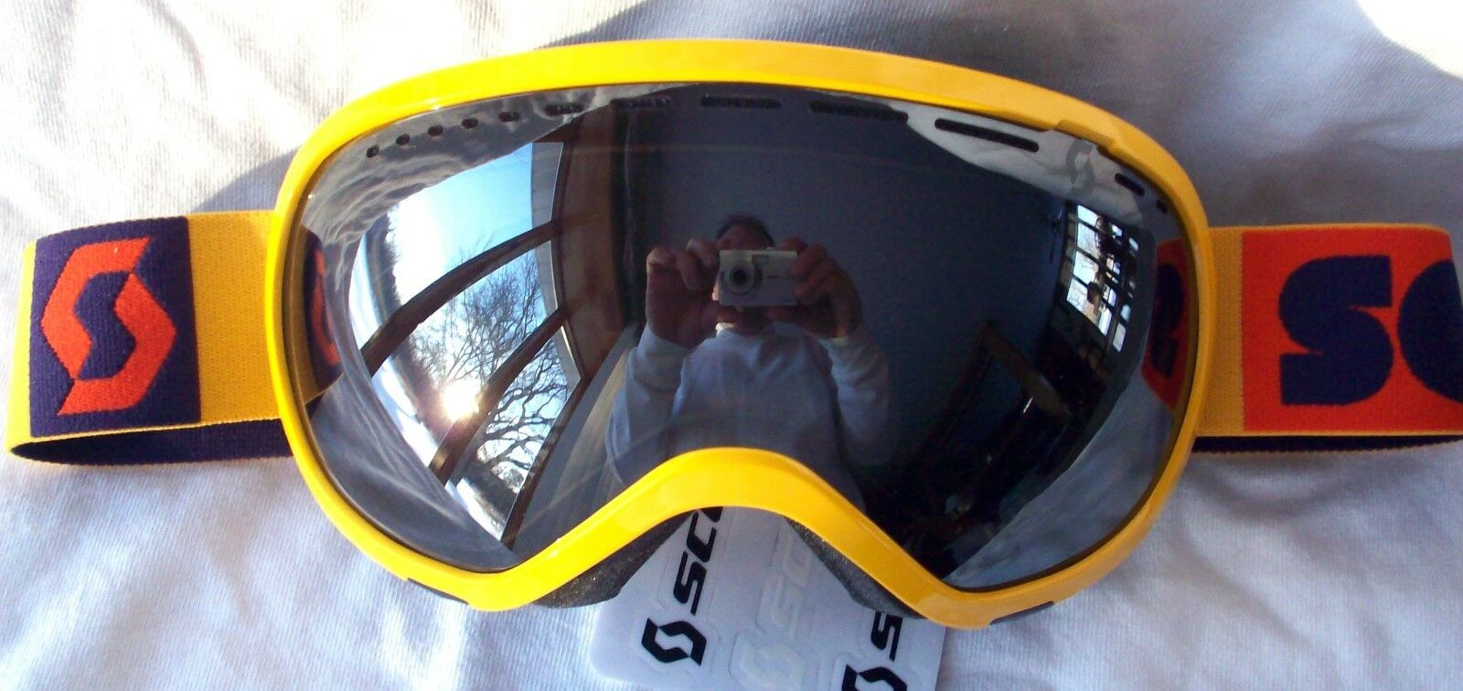 NEW  Scott Womens Off Grid Plus Yellow Purple Winter Snow Ski goggles Ladies