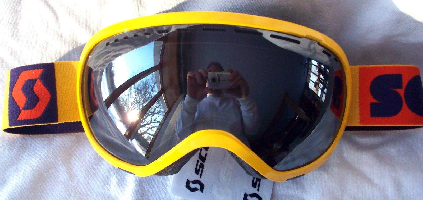 NEW  120 Scott Womens Off Grid Plus Yellow Purple Winter Snow Ski goggles Ladies