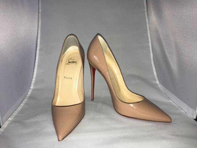 "6412a8c31da Christian Louboutin ""So Kate"" Patent Nude Stiletto Heels Size EU 40/US 10"