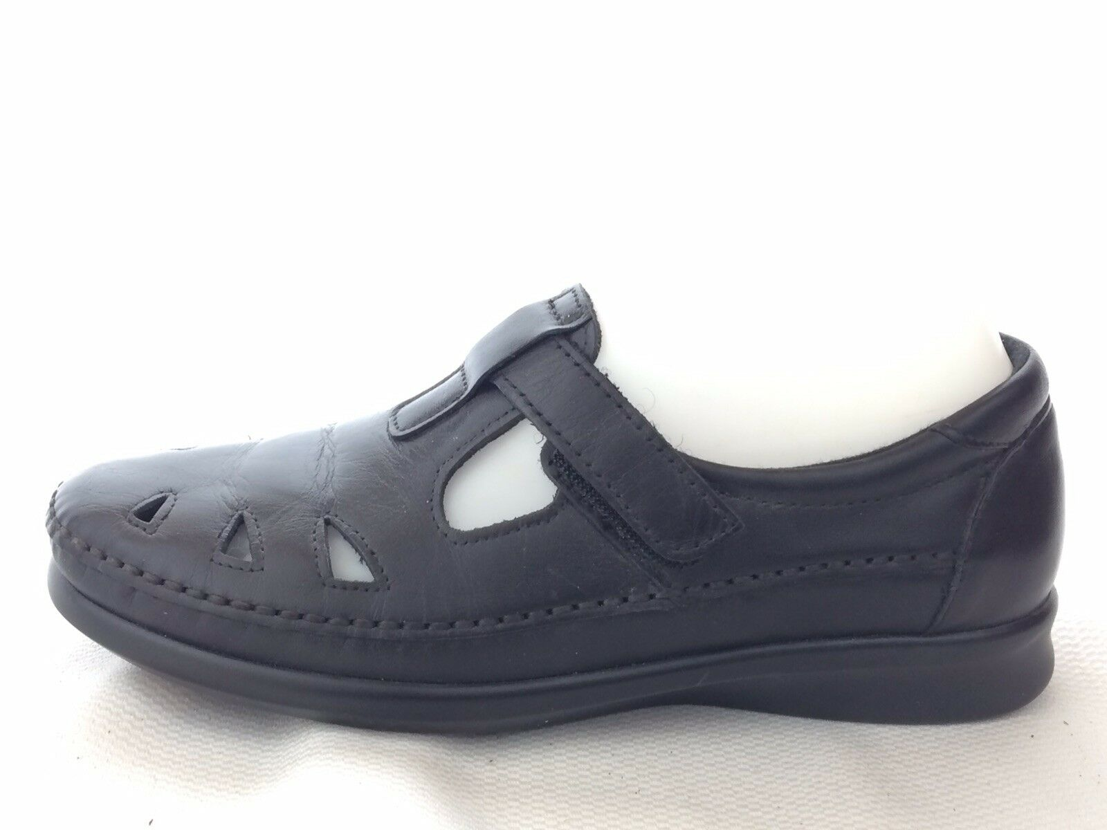 Special Air Service confort femme 8.5 M noir cuir T Strap Mary Jane MOC Mocassin Walking chaussures