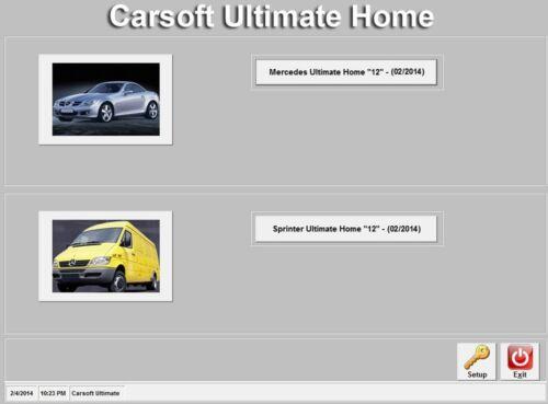 Carsoft OEM V12 Mercedes Diagnostic Software for 1991-2005 Mercedes cars.