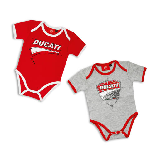 Ducati Corse Sketch Baby Bodysuits Romper Set 2 Pcs One Piece Suit Red White New