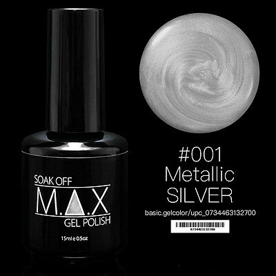 MAX 15ml 92 Colores Soak Off Esmalte en Gel Arte en Uñas Manicura UV LED 001-050