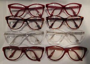 Lot Elite Maxine Assorted Colors Eyeglass Frame NOS #S46 Vintage 3 Pc