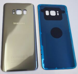 100-Original-Samsung-Galaxy-S8-SM-G950-Silver-Back-Rear-Glass-Battery-Cover