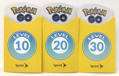 Sprint Pokemon Go Level 10 20 30 Badges Brand New 3 Patches Sprint Set Promo Lot