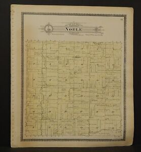 Iowa Cass County Map Noble Township 1900 L13#59