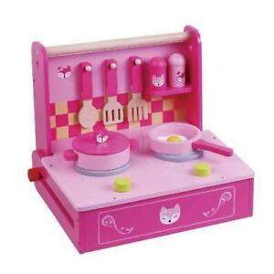 31bef41a7a35 Image is loading Pink-Wooden-Kitchen-Play-Cooking-Set-Wooden-Pretend-